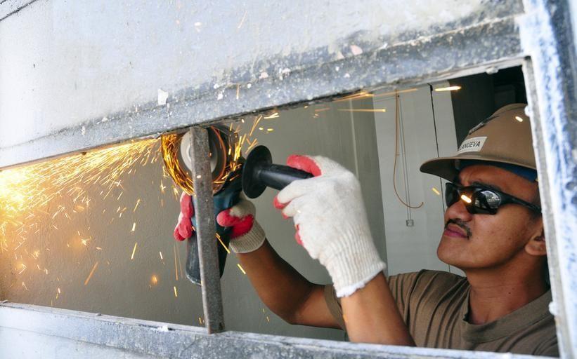 Laborer at work.